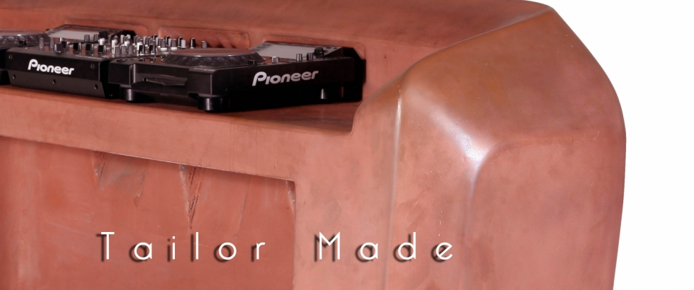 Aloeë Tailor made _ copper DJ Booth - Design by Jesse Nelson van den Broek