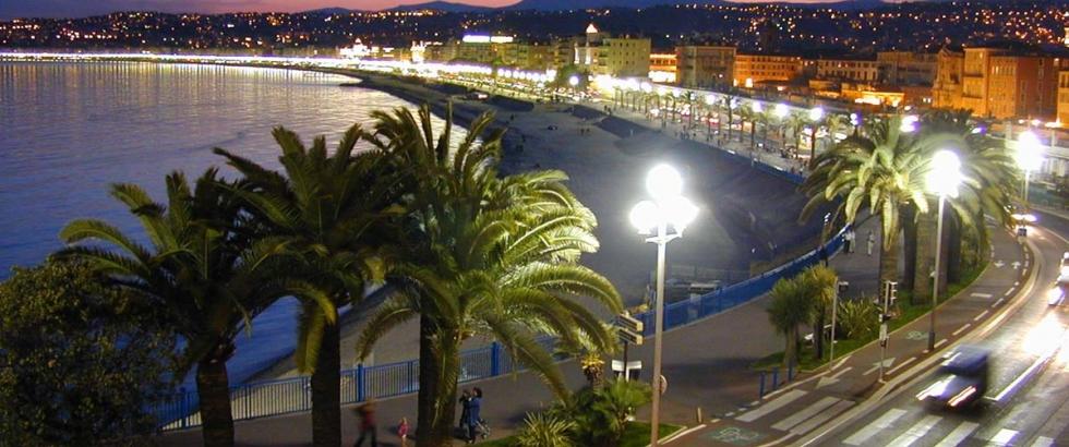 Beautiful boulevard in Nice